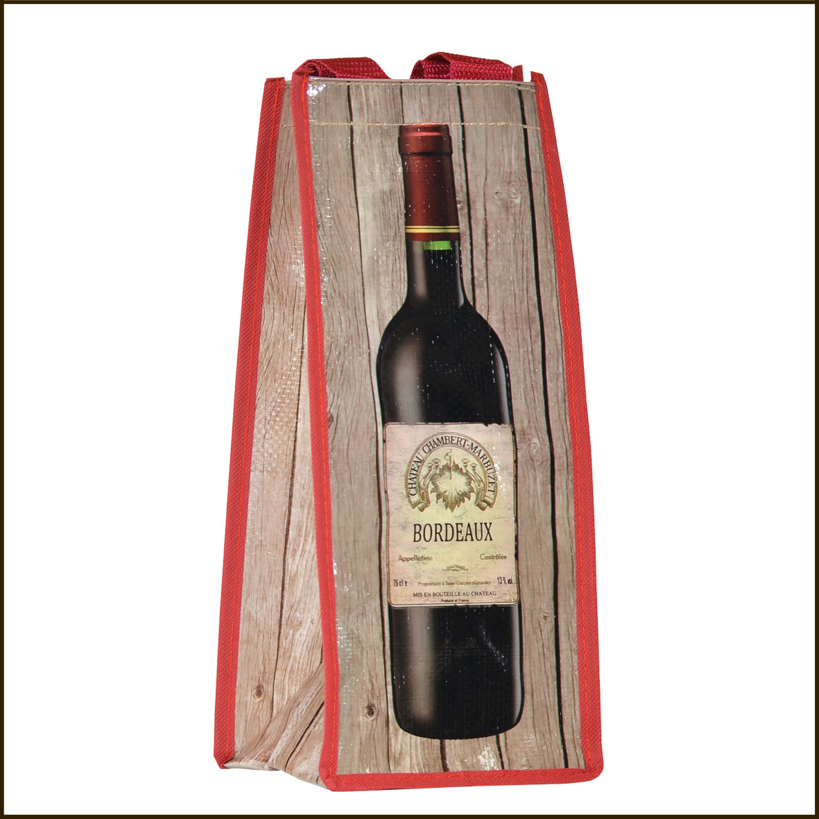 Sac porte bouteille bordeaux for Porte 15 bordeaux